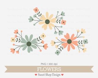 Flower Clip Art, Wedding Clip Art, Royalty Free Clip Art, N05, Instant Download
