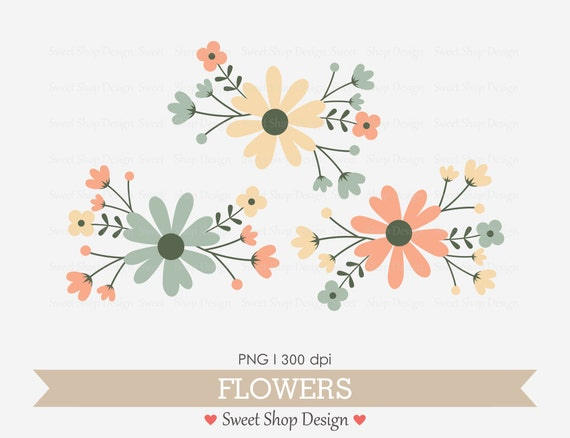 Blumen Clipart Hochzeit Cliparts Lizenzfreie Kostenlose Etsy