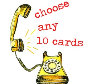 Choose any 10 funny greetings cards. Funny valentines card greetings cards birthday cards. Special offer