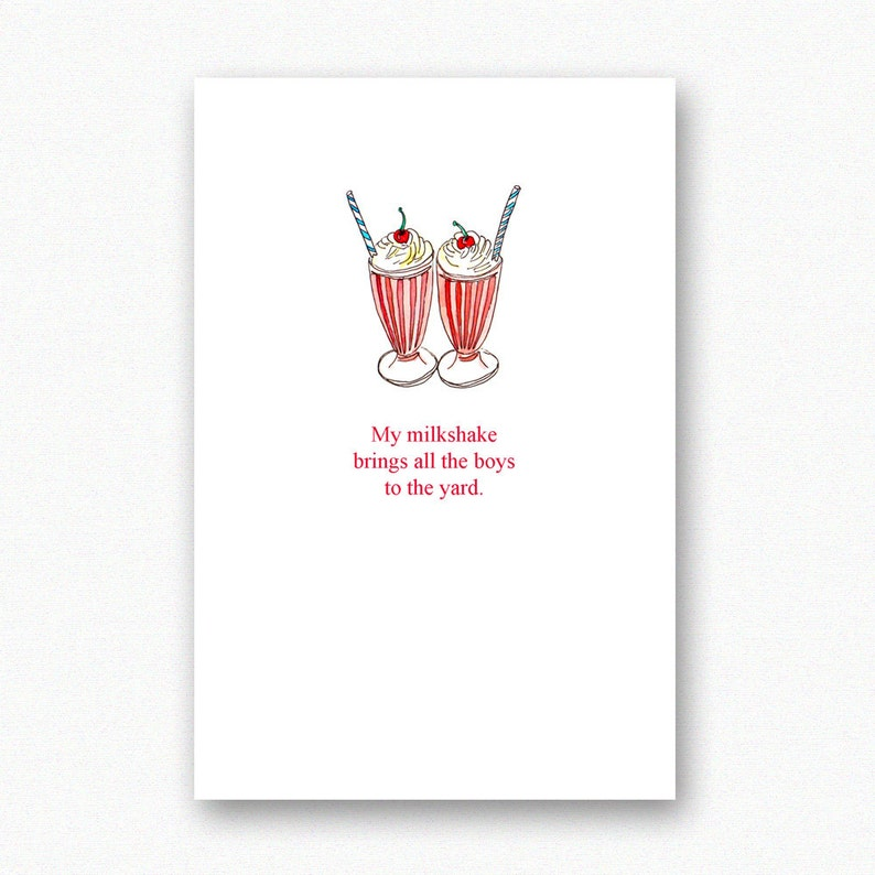 Funny Birthday Card Best Friend Boyfriend My Milkshake
