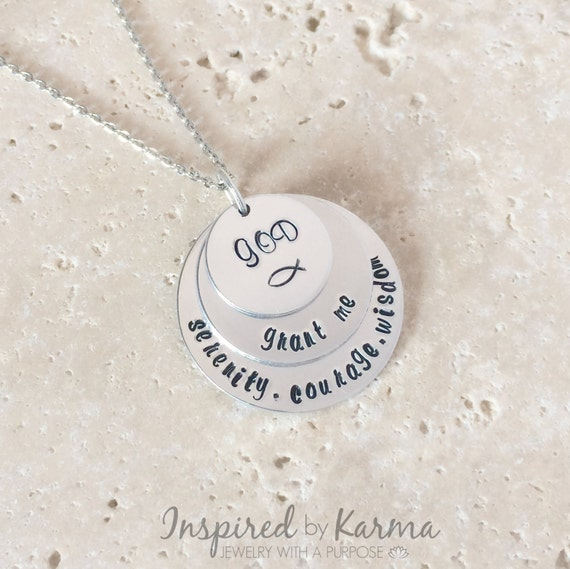 Personalized Serenity Prayer Necklace Spiritual Necklace ...