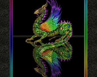 Clockwork Dragon 8x10 Print