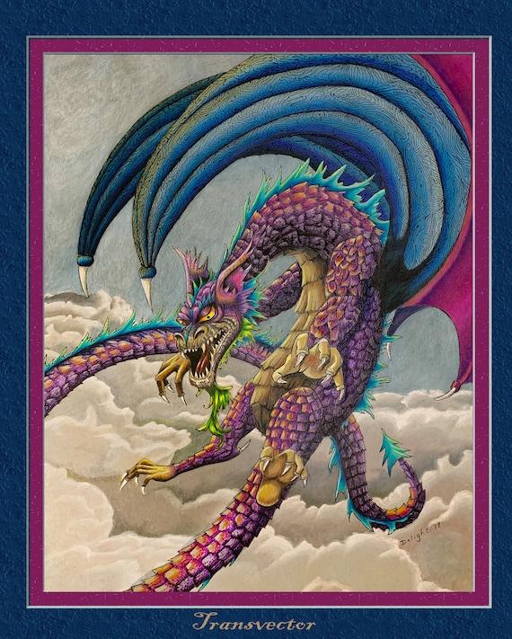 Flying Fantasy Art Dragon