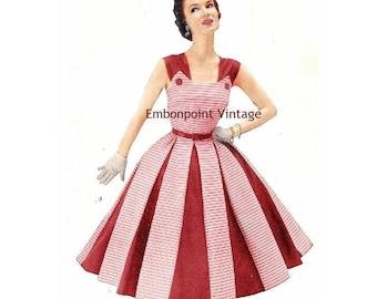 82458a2a85 Plus Size (or any size) Vintage 1949 Dress Sewing Pattern - PDF - Pattern  No 3 Nora