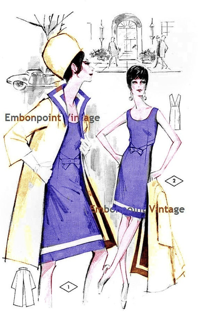 1960s – 70s Sewing Patterns- Dresses, Tops, Pants, Men's Plus Size (or any size) Vintage 1969 Womens Suit Pattern - PDF - Pattern No 1/2 Tammy $9.34 AT vintagedancer.com