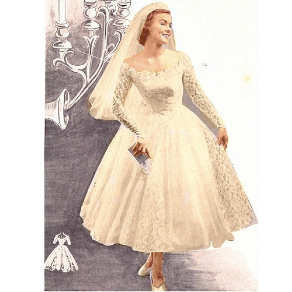 Plus Size Or Any Size Vintage 1949 Wedding Dress Sewing Etsy