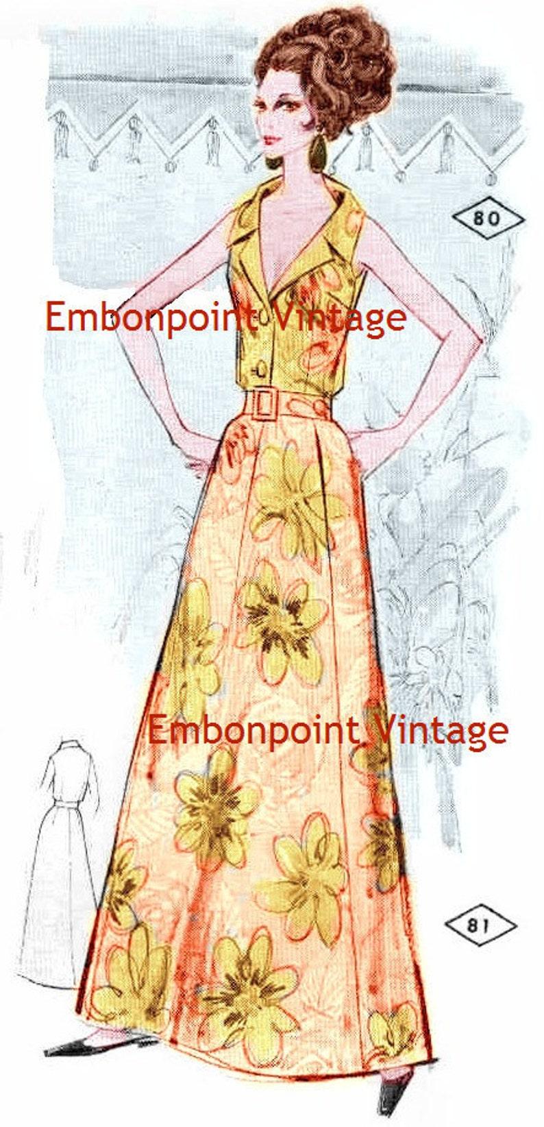 1960s – 70s Sewing Patterns- Dresses, Tops, Pants, Men's Plus Size (or any size) Vintage 1969 Skirt Pattern - PDF - Pattern No 81 Roxanne Skirt $5.41 AT vintagedancer.com