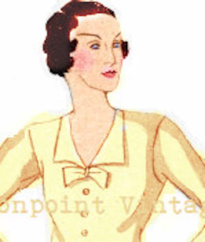 1930s Sewing Patterns- Dresses, Pants, Tops 1934 Blouse - PDF - Pattern No 97 Harriet 1930s 30s Patterns Instant Download Plus Size Pattern (or any size) Vintage  $7.37 AT vintagedancer.com