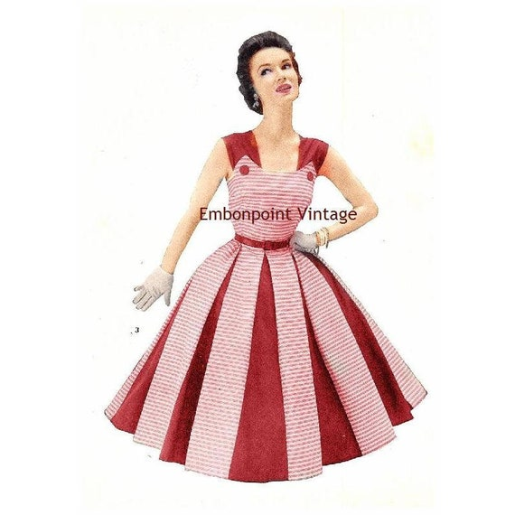 Plus Size Or Any Size Vintage 1949 Dress Sewing Pattern Pdf Pattern No 3 Nora