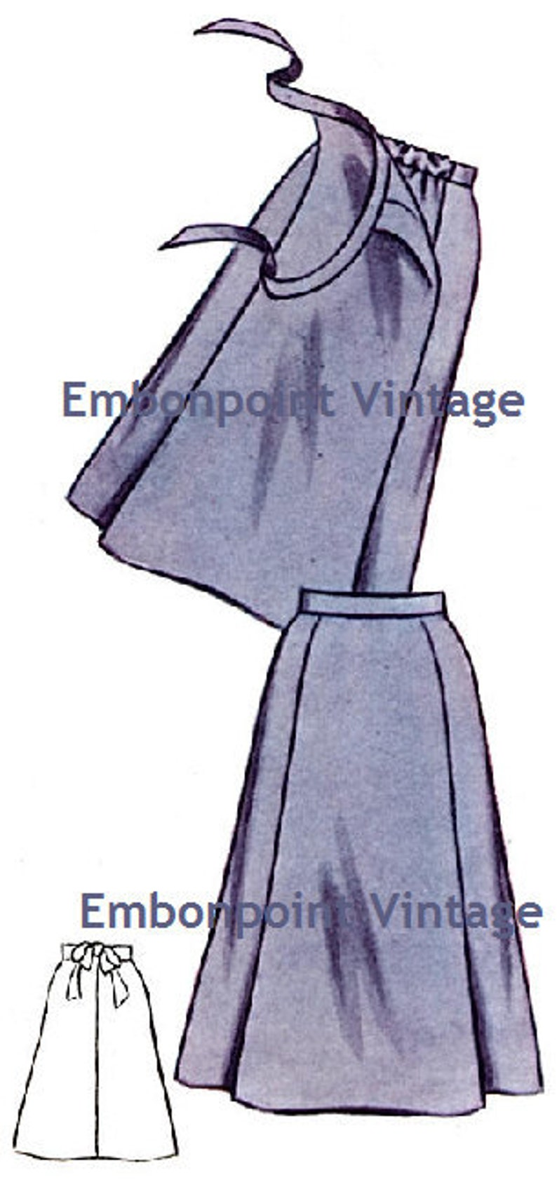 Vintage Maternity Clothes History  1950s Maternity Skirt Pattern - PDF - Pattern No 72 Ruth Skirt $6.33 AT vintagedancer.com