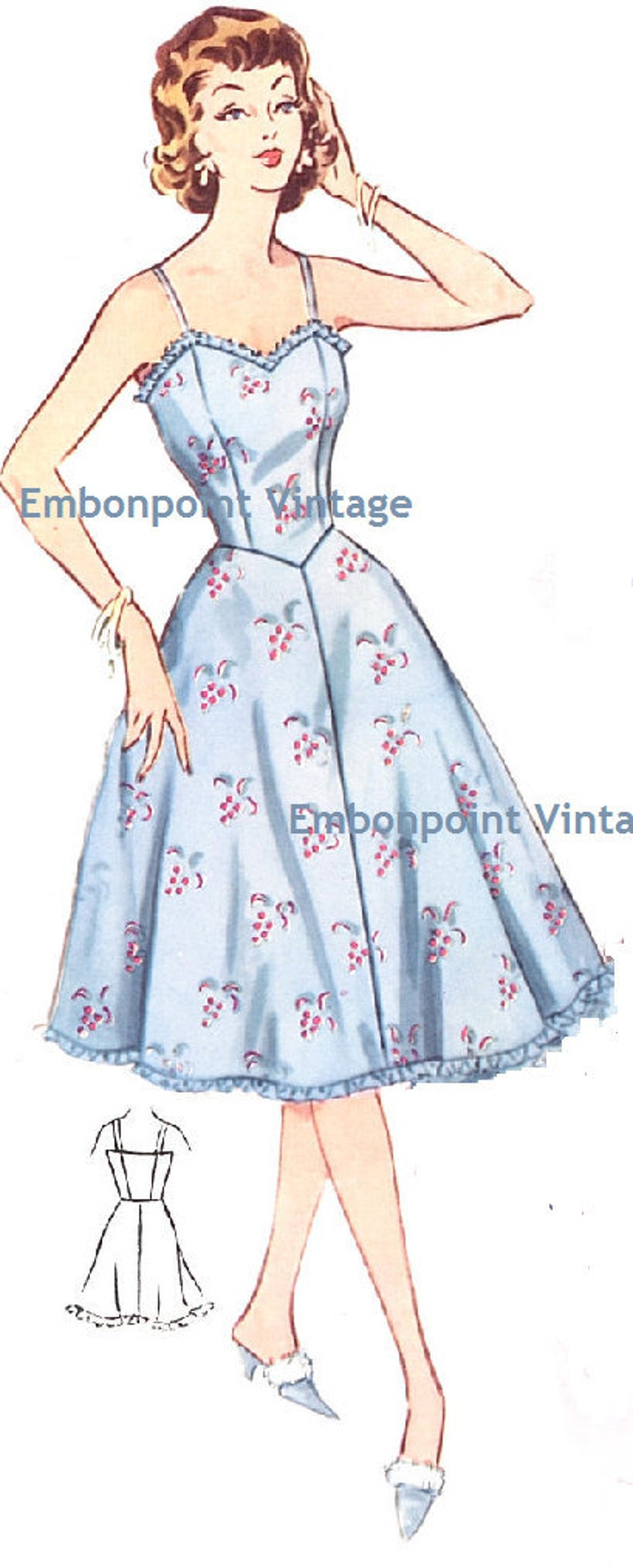 1950s Sewing Patterns | Dresses, Skirts, Tops, Mens Vintage 1950s Petticoat Pattern - PDF - Pattern No 214 Melanie Petticoat $7.30 AT vintagedancer.com