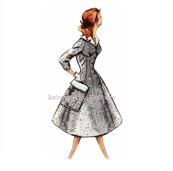 Vintage Sewing Pattern 1956 Swing Dress Pdf Plus Size Or Any