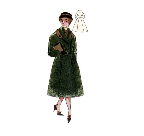 Vintage Sewing Patterns Plus Size Or Any Size 1956 Coat Etsy