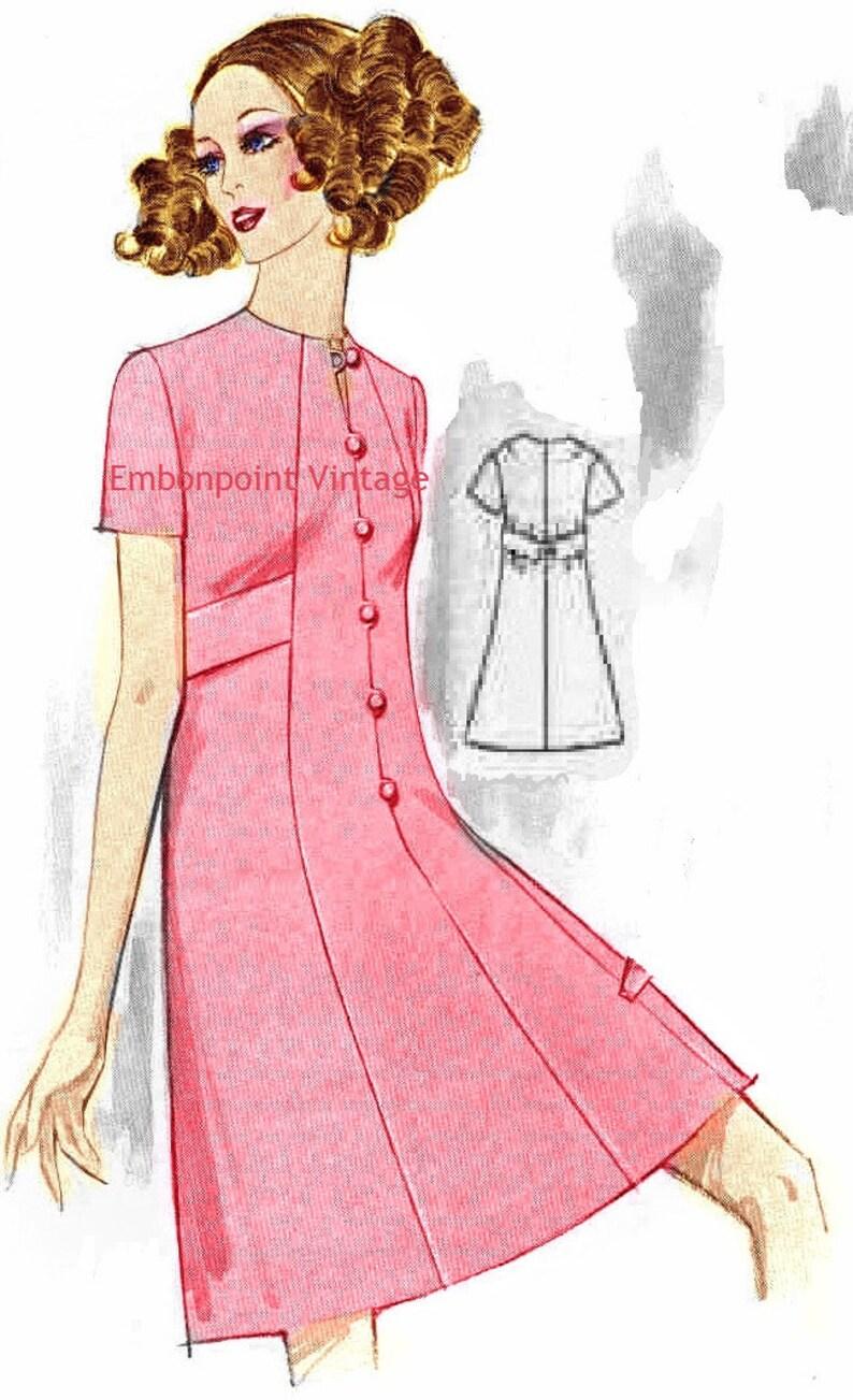 1960s – 70s Sewing Patterns- Dresses, Tops, Pants, Men's Plus Size (or any size) Vintage 1969 Dress Pattern - PDF - Pattern No 161 Mindy $8.35 AT vintagedancer.com