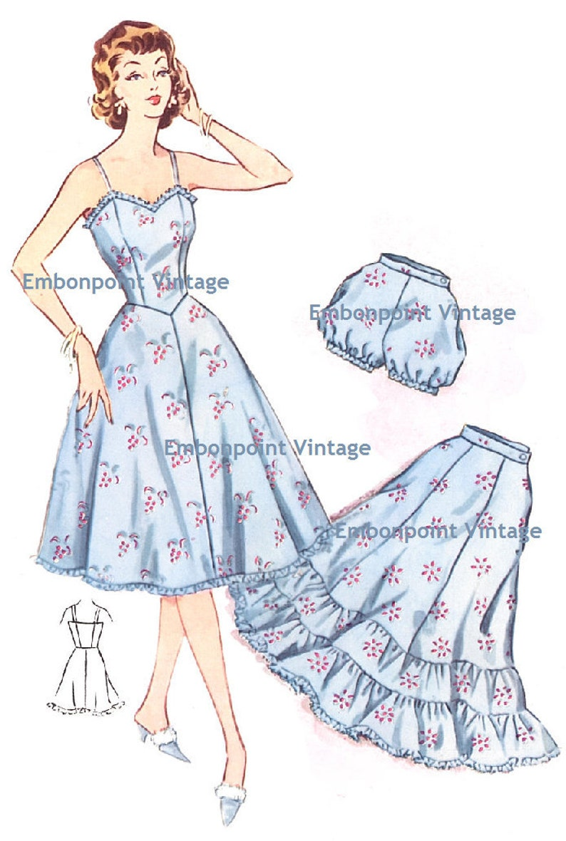 1950s Sewing Patterns | Dresses, Skirts, Tops, Mens Plus Size (or any size) Vintage 1950s Petticoat Pattern - PDF - Pattern No 216 Melanie Petticoat Skirt 50s Fashion Sewing Instant Download $7.26 AT vintagedancer.com