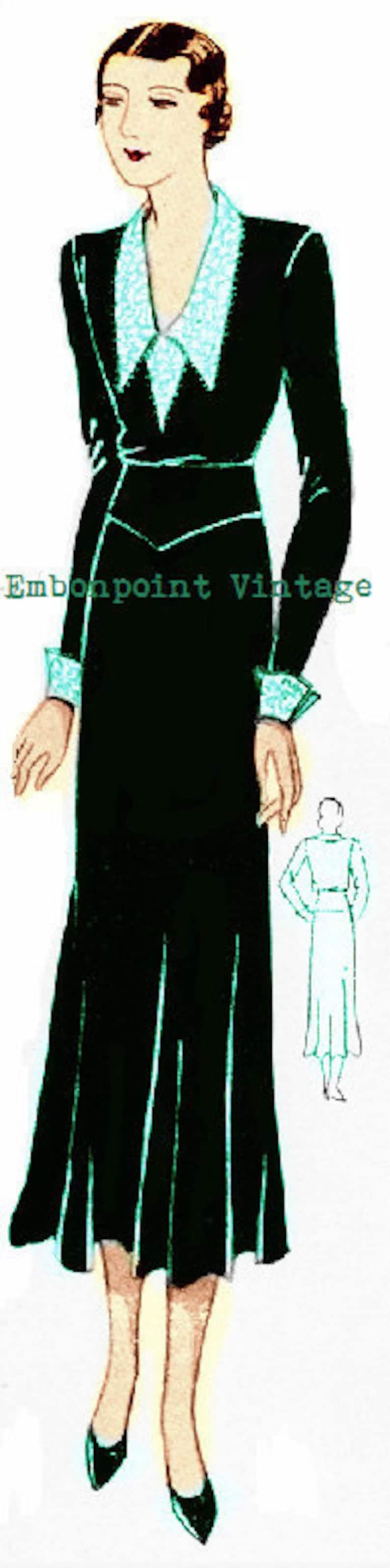 1930s Vintage Dresses, Clothing & Patterns Links Plus Size (or any size) 1934 Vintage Dress Sewing Pattern - PDF - Pattern No 64 Josefina 1930s 30s Instant Download $1,934.00 AT vintagedancer.com