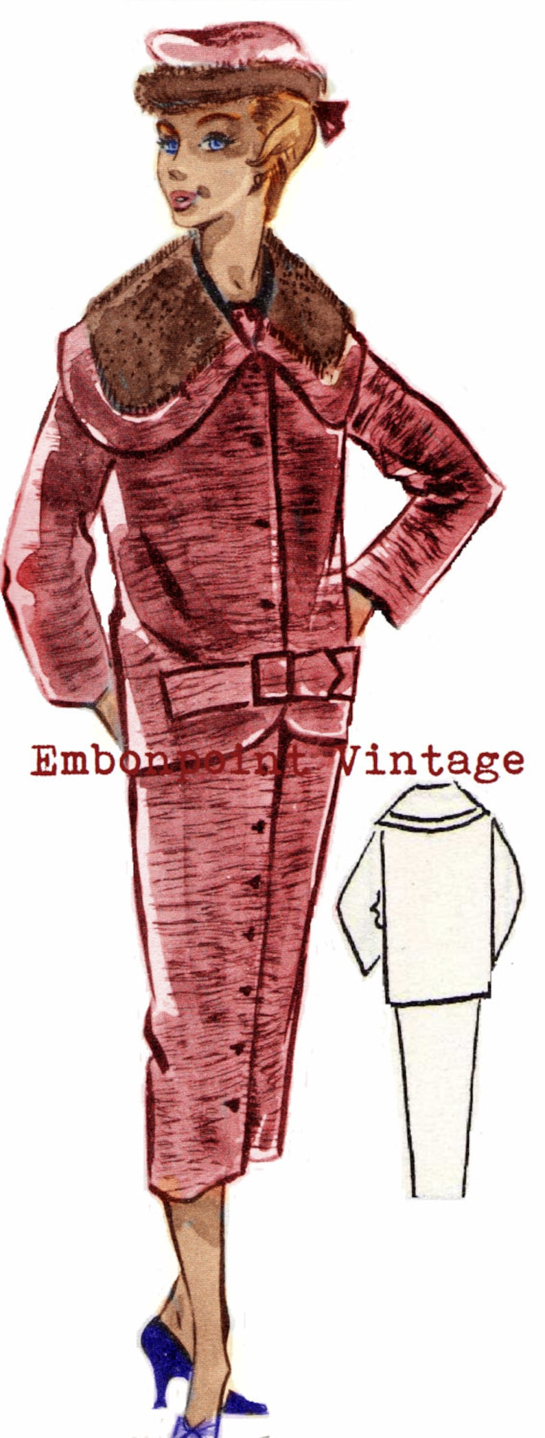 1950s Fabrics & Colors in Fashion Vintage Sewing Patterns Plus Size (or any size) 1956 Wiggle Dress & Jacket - PDF - Pattern No 38 Lourdes 1950s 50s Patterns Instant Download $12.28 AT vintagedancer.com
