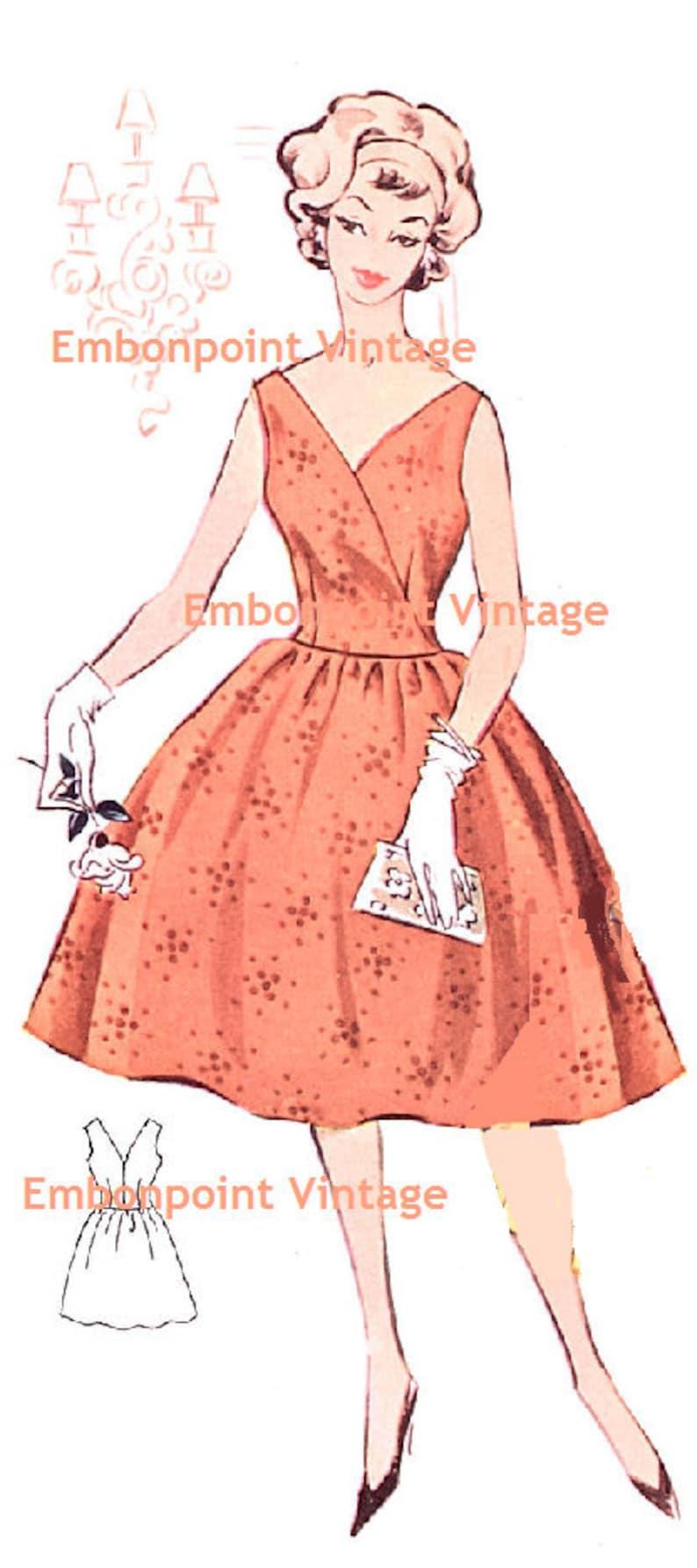 1950s Sewing Patterns | Dresses, Skirts, Tops, Mens Plus Size (or any size) Vintage 1950s Dress Pattern - PDF - Pattern No 3: Linda $8.35 AT vintagedancer.com
