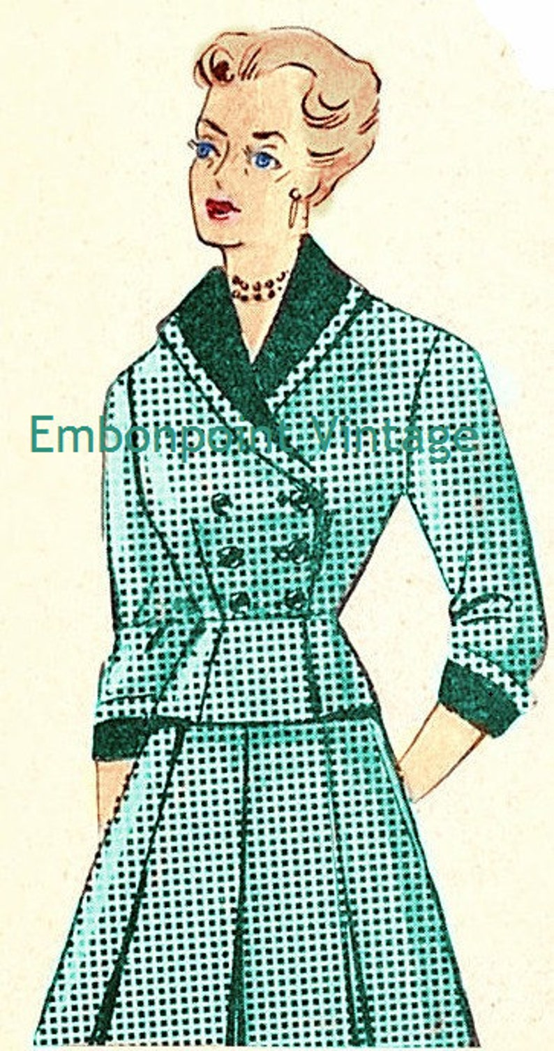 1940s Dresses | 40s Dress, Swing Dress 1949 Skirt Suit Sewing Pattern - PDF - Pattern No 72 Sonja Plus Size (or any size) Vintage  $12.28 AT vintagedancer.com