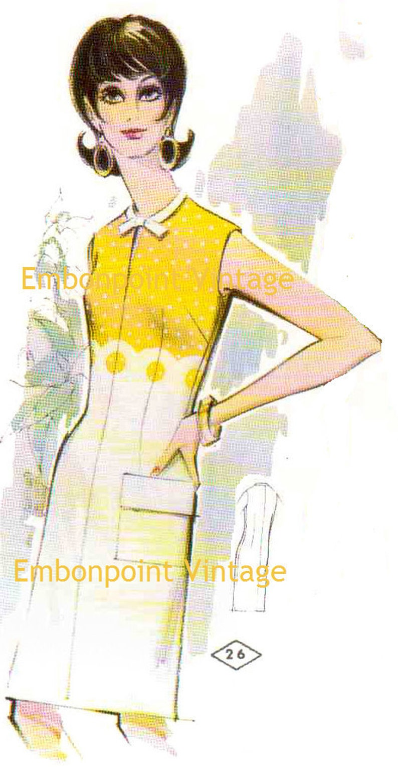 1960s – 70s Sewing Patterns- Dresses, Tops, Pants, Mens Plus Size (or any size) Vintage 1969 Womens Dress Pattern - PDF - Pattern No 26 Tammie $7.37 AT vintagedancer.com