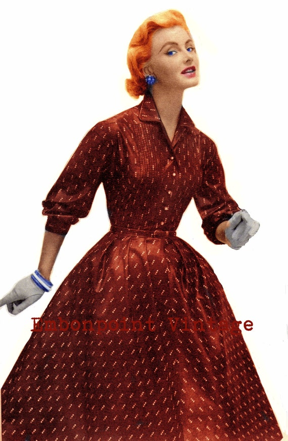 Vintage Sewing Pattern 1956 Swing Dress Pdf Plus Size Or Any Etsy