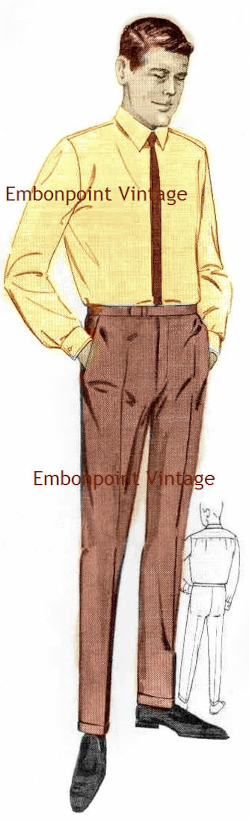 1960s Sewing Patterns | 1970s Sewing Patterns 1969 Mens Pants Pattern - PDF - Pattern No 95 Johnny Pants $5.35 AT vintagedancer.com