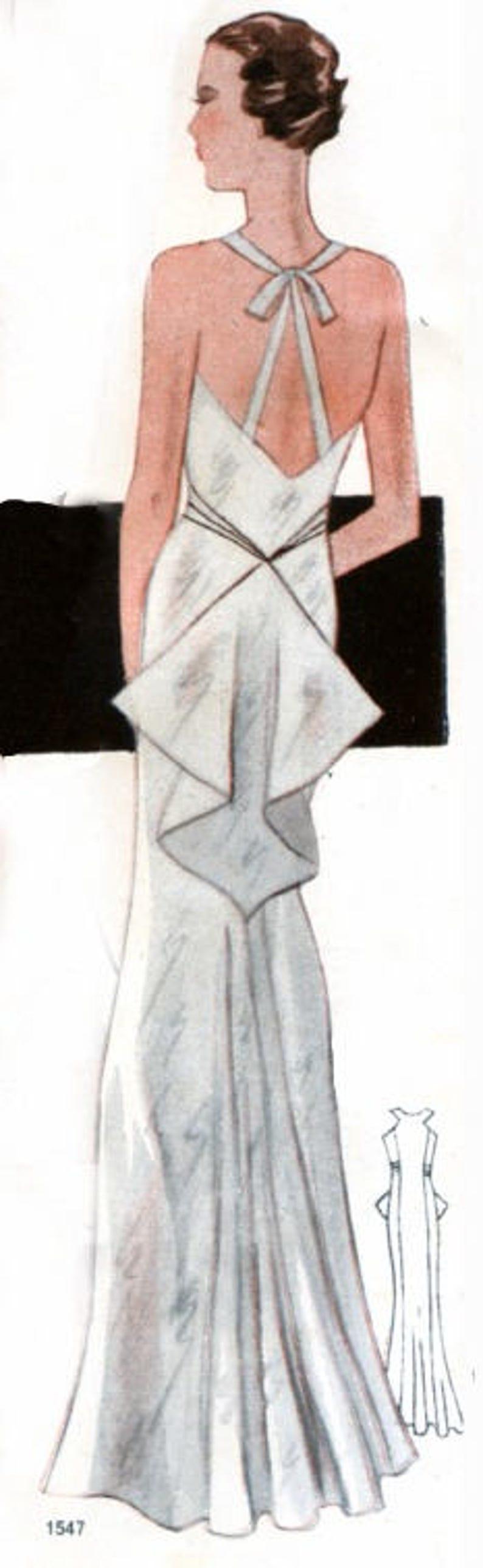 1930s Vintage Dresses, Clothing & Patterns Links Plus Size (or any size) Vintage 1934 Dress Sewing Pattern - PDF - Pattern No 1547 Kay 1930s 30s Patterns $11.20 AT vintagedancer.com