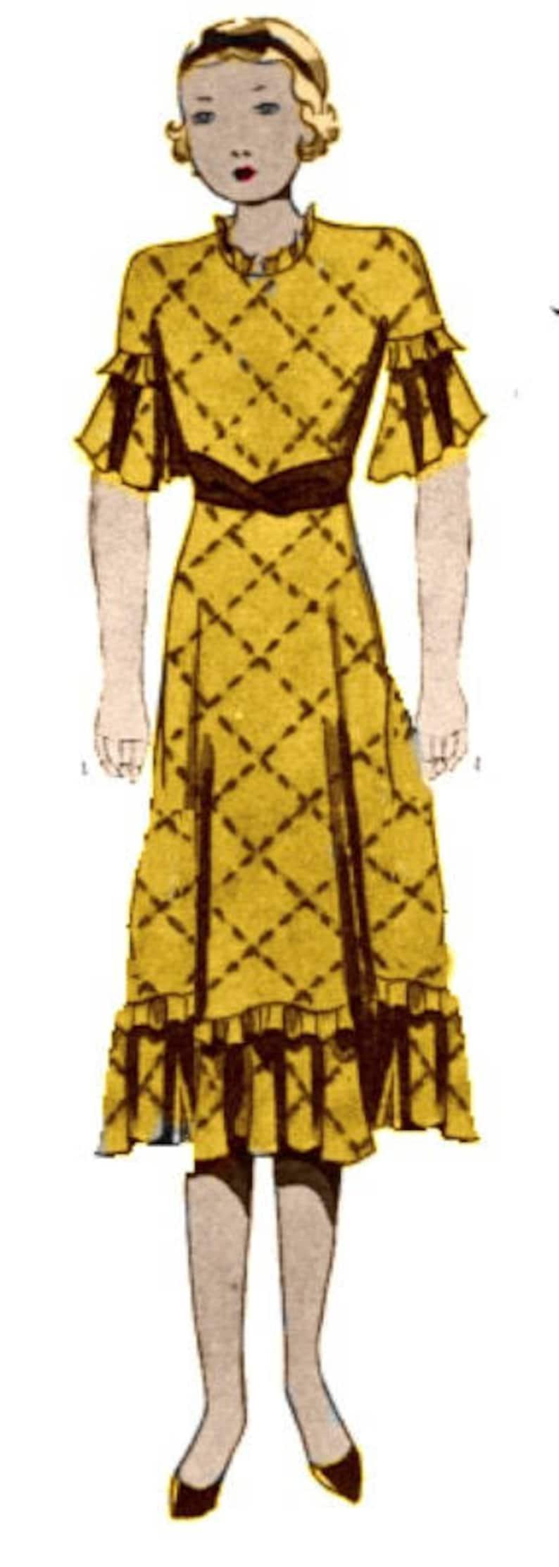 1930s Sewing Patterns- Dresses, Pants, Tops Plus Size (or any size) Vintage 1934 Dress Sewing Pattern - PDF - Pattern 1578 - Carlene 1930s 30s Retro Instant Download $11.20 AT vintagedancer.com