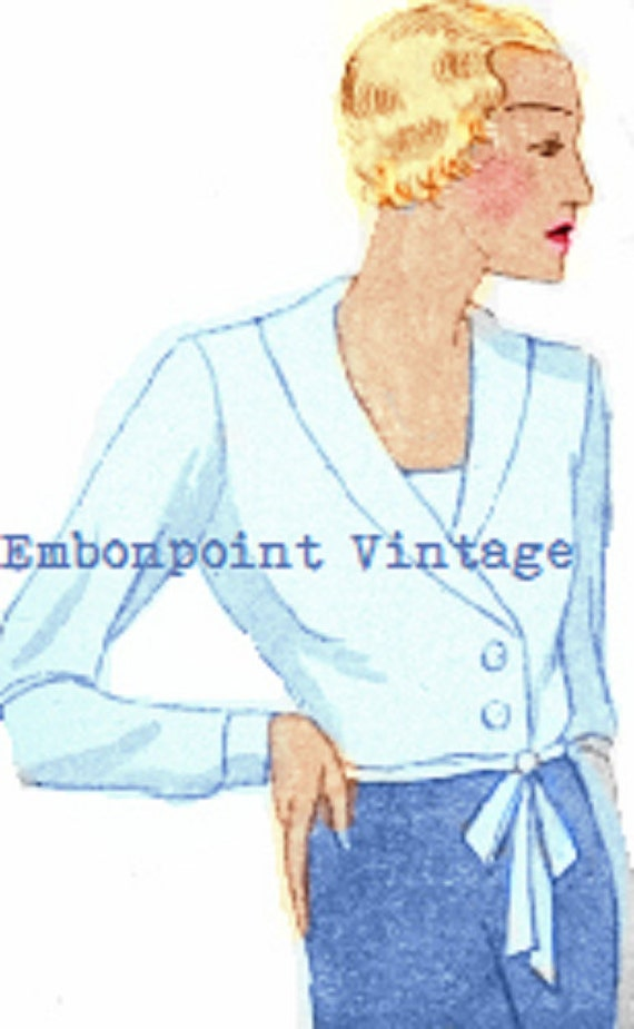 1930s Sewing Patterns- Dresses, Pants, Tops Felicita 1930s 30s Patterns Instant Download $7.61 AT vintagedancer.com