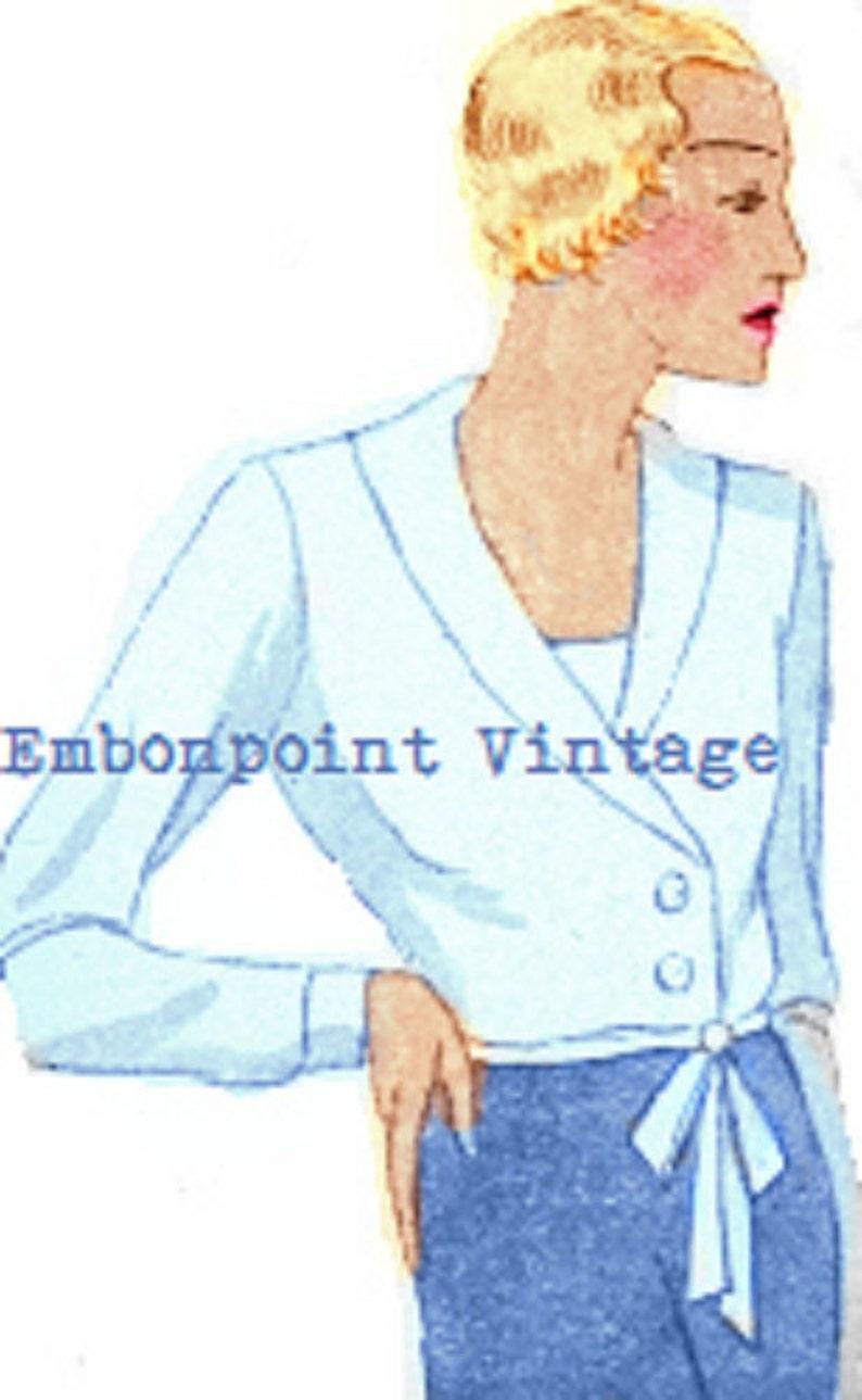 1930s Vintage Dresses, Clothing & Patterns Links Plus Size Pattern (or any size) Vintage 1934 Blouse - PDF - Pattern No 96 Felicita 1930s 30s Patterns Instant Download $7.37 AT vintagedancer.com