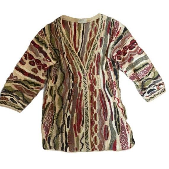 Beautiful COOGI Classic  Cardigan Sweater Medium