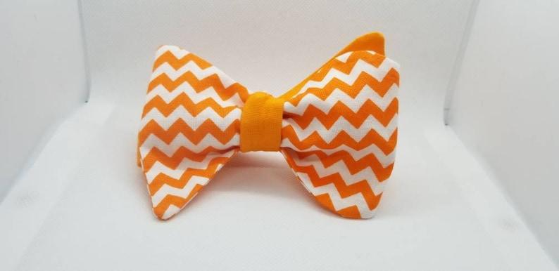 Mr. Orange and White Designer Chevron 2 in 1 Freestyle image 0