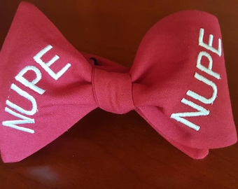 """Kappa Alpha Psi Fraternity, Inc. """"NUPE"""" Freestyle or Pre-tied BowTieByEDJ - Crimson"""