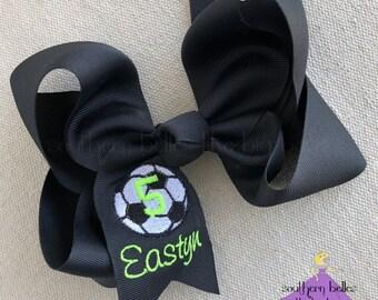 9a9d59f1ba4365 Soccer Hair Bow