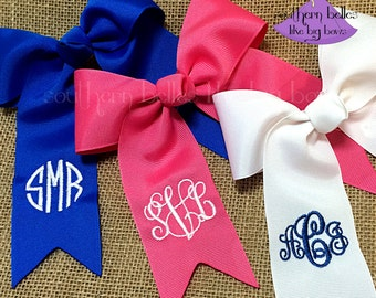 monogram Personalized  hairbow hair bow big large boutique M2M jumbo 6 inch