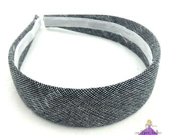 Black Chambray Hard Headband 2fdac722849