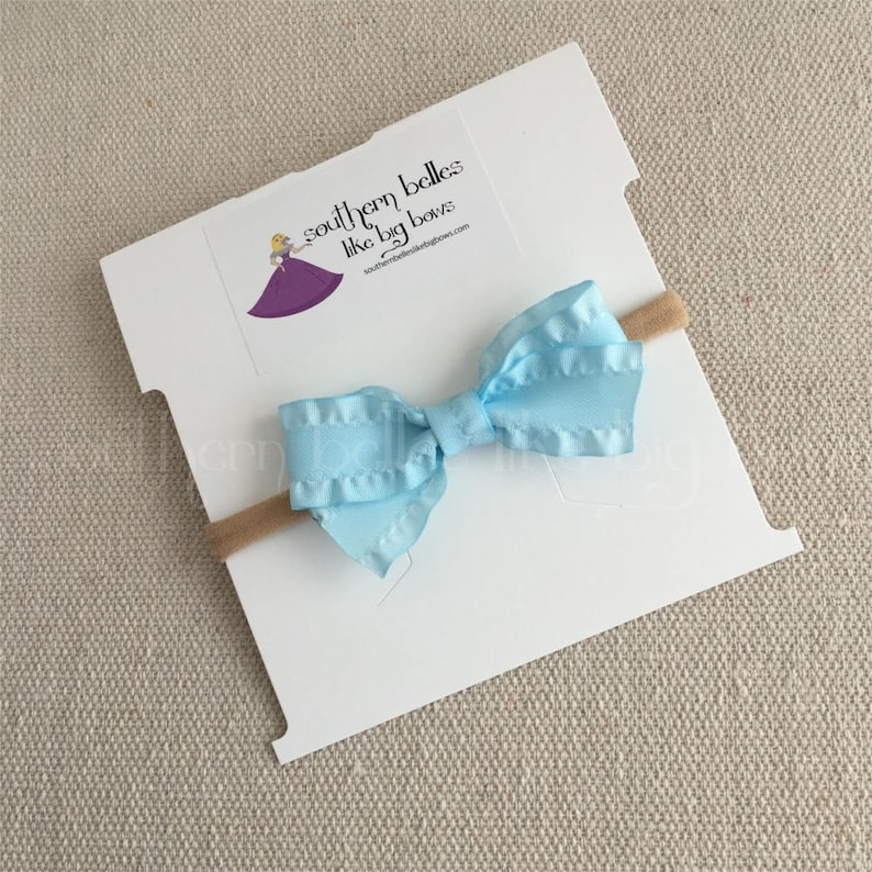 Small Easter Bow for Baby Gift for Baby Small Baby Bow Headband Easter Baby Headband Baby Bow Set Small Ruffle Bow
