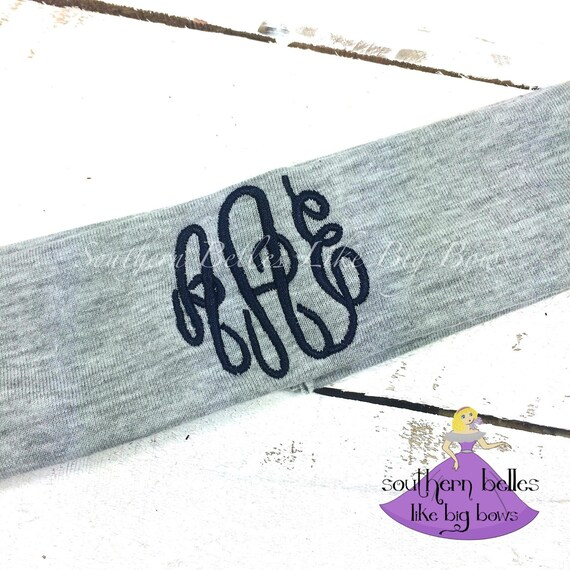 Monogrammed Headband Stretch Knit 1 Color Stocking Stuffer  39b0080e802