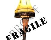 Items Similar To A Christmas Story Leg Lamp Custom Wine Or