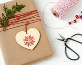 DIY Embroidery Kit // Cross Stitch Ornament // Scandinavian Inspired Heart // Christmas Ornament