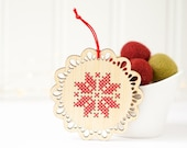 DIY Kit // Cross Stitch Ornament // Scandinavian Inspired Ornament // Christmas Ornament