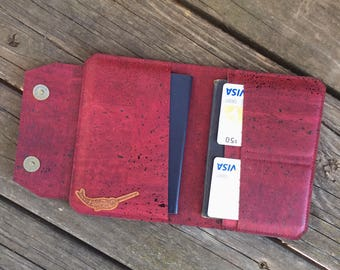 Cork Passport Cover.Passport Holder.Vegan Leather Passport Holder.Passport Wallet.Passport Holder Organizer.Travel Wallet.Travel Organizer