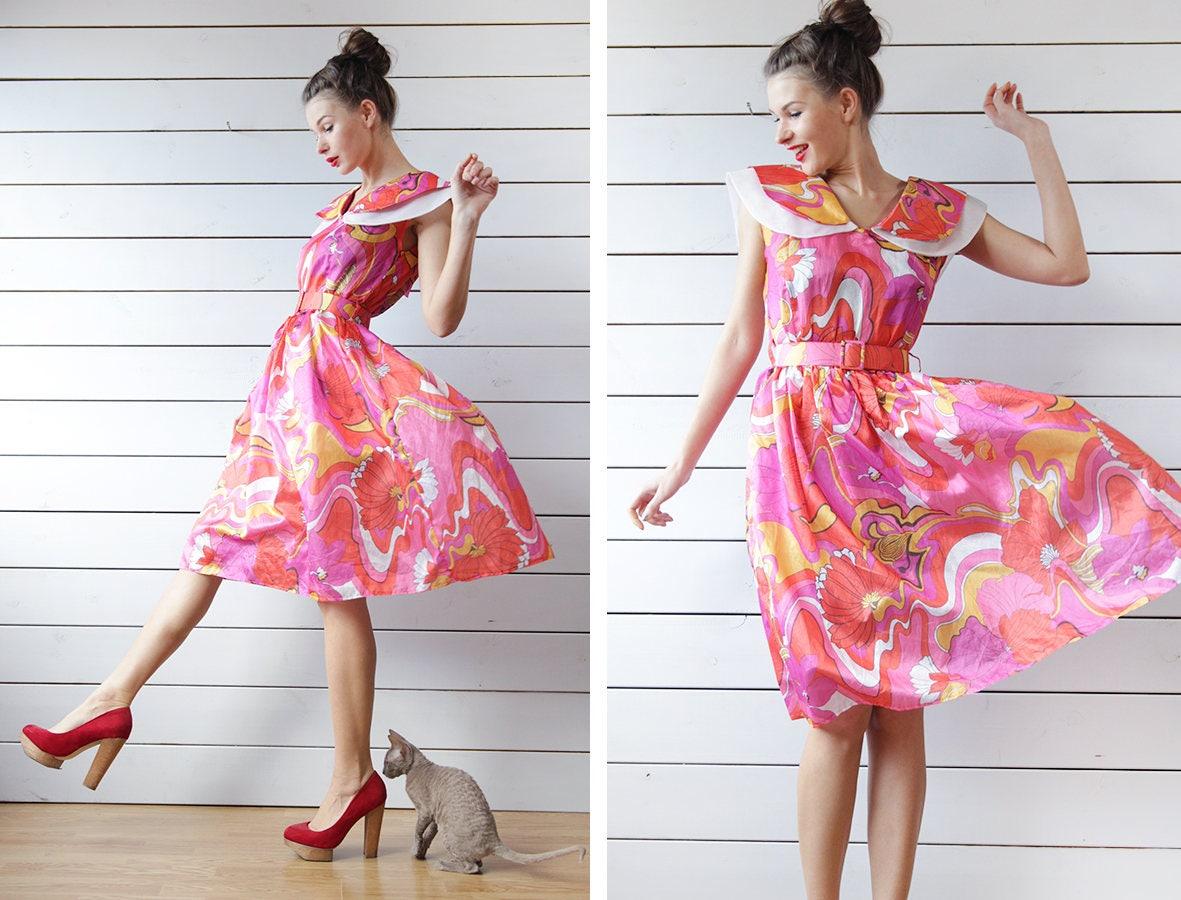 5f5689ee05 Black Bright Floral Button Through Midi Tea Dress New Look