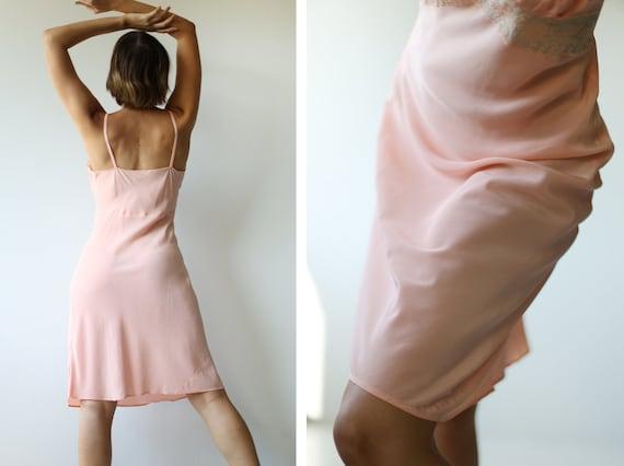 Vintage pink lace trim underwear chemise night go… - image 3