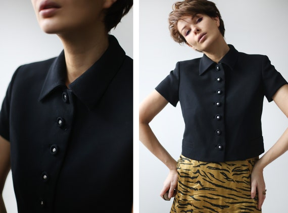 GIANNI VERSACE Couture Vintage black wool medusa b
