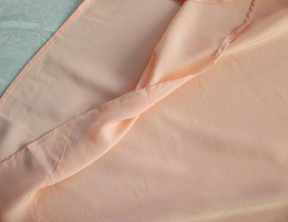 Vintage pink lace trim underwear chemise night go… - image 6