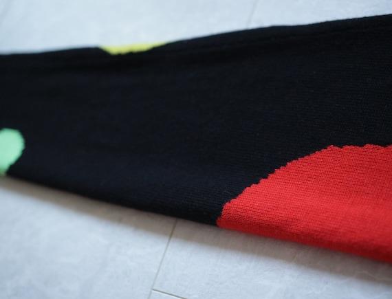 GIANNI VERSACE Vintage black colorful circle knit… - image 6