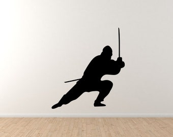 Assassin Katana Duel Sneak Swing Strike Ninja Samurai #15 Vinyl Wall Decal