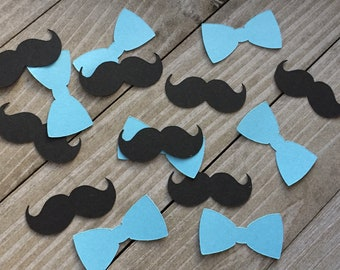 Little Man Party Confetti Party Decorations Boy Baby Shower Birthday Party Table Confetti 1.5 100 Ct. Mustache Confetti