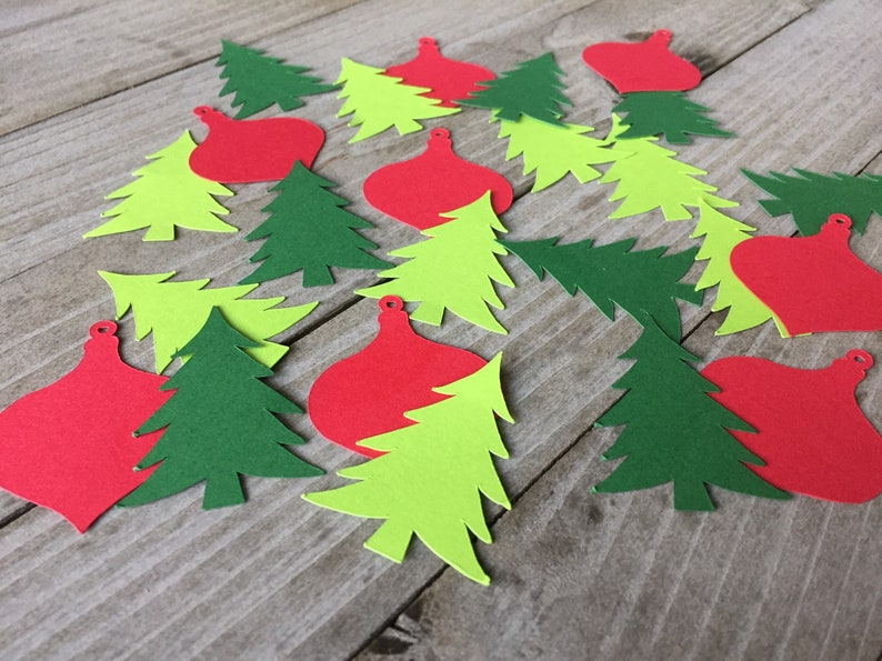 christmas party christmas decorartions 100 christmas tree and ornament confetti